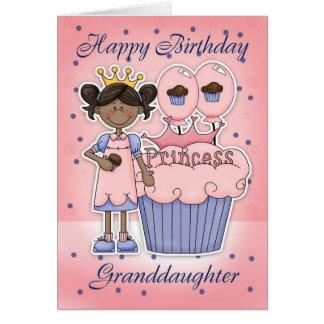 Carte d'anniversaire de petite-fille - princesse