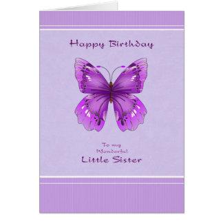 Carte d'anniversaire de petite soeur - papillon