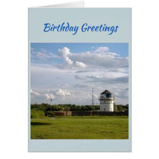 Carte d'anniversaire de phare de la Norfolk