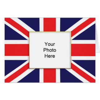 Carte d'anniversaire de photo d'Union Jack