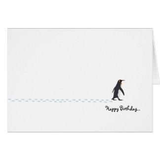 Carte d'anniversaire de pingouin