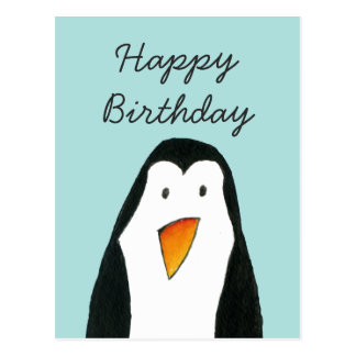 Carte d'anniversaire de pingouin carte postale