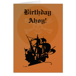 Carte d'anniversaire de pirate