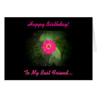 Carte d'anniversaire de poème de meilleur ami