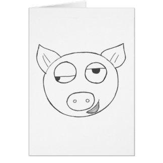 Carte d'anniversaire de porc de Stinkeye