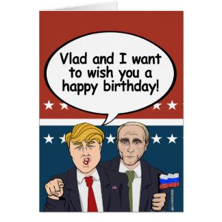 Carte d'anniversaire de Poutine d'atout - Vladamir