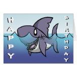 Carte d'anniversaire de requin