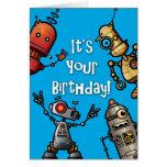 Carte d'anniversaire de robot