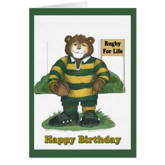 Carte d'anniversaire de rugby