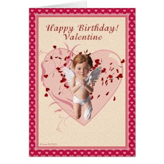 Carte d'anniversaire de Saint-Valentin de cupidon