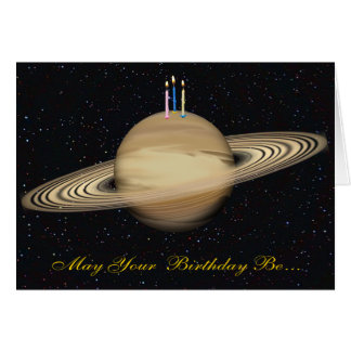 Carte d'anniversaire de Saturn de planète