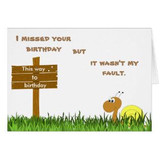 Carte d'anniversaire de snail mail