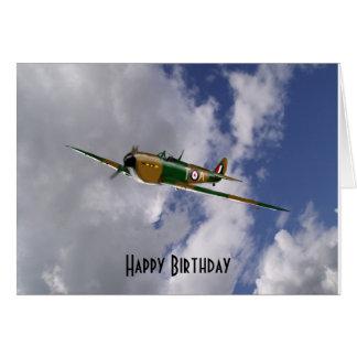 Carte d'anniversaire de Spitfire