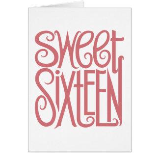 Carte d'anniversaire de sweet sixteen