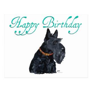 Carte d'anniversaire de Terrier d'écossais