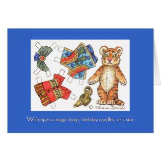 Carte d'anniversaire de tigre