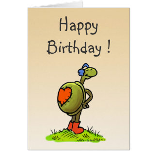 carte d'anniversaire de tortue