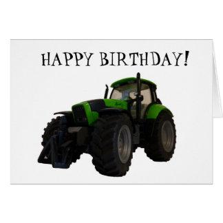 Carte d'anniversaire de tracteur