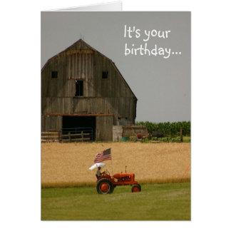 Carte d'anniversaire de tracteur : Heure de célébr