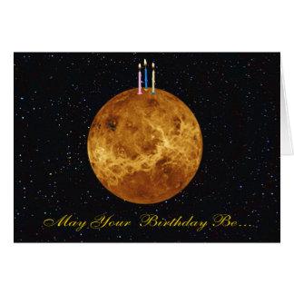 Carte d'anniversaire de Vénus de planète
