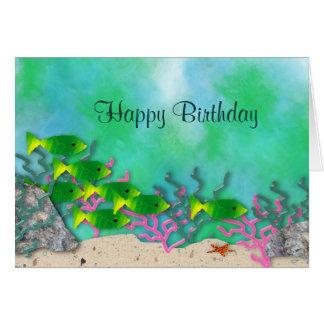 Carte d'anniversaire de vie marine