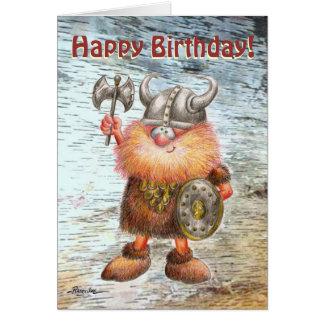 Carte d'anniversaire de Viking de joyeux anniversa