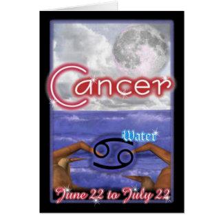 Carte d'anniversaire de zodiaque de Cancer
