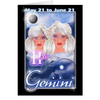 Carte d'anniversaire de zodiaque de Gémeaux