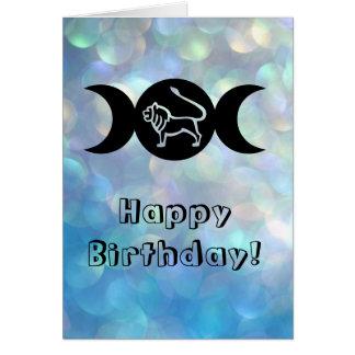 Carte d'anniversaire de zodiaque de signe du
