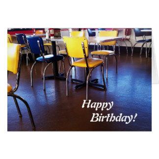 Carte d'anniversaire délicieuse de chaises