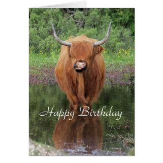 Carte d'anniversaire des montagnes de vache