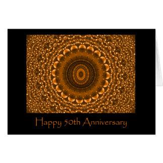Carte d'anniversaire d'or cinquantième