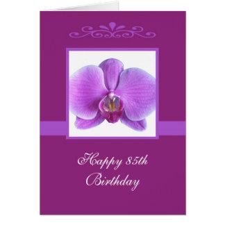 Carte d'anniversaire d'orchidée 85th