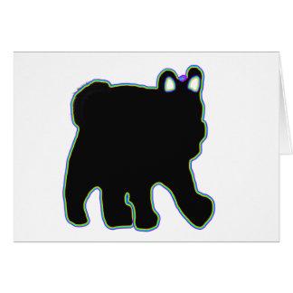 Carte d'anniversaire d'ours d'arc-en-ciel