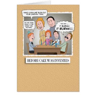Carte d'anniversaire drôle : Avant gâteau