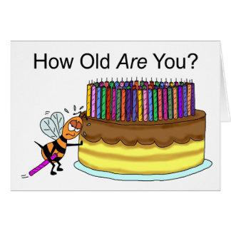Carte d'anniversaire drôle :  Cire d'abeille de
