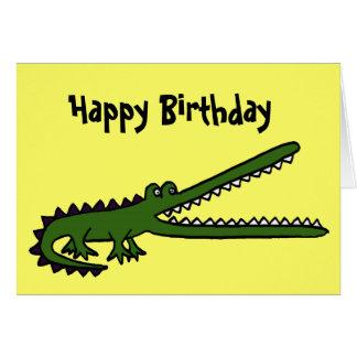 Carte d'anniversaire drôle de crocodile d'AL