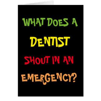 Carte d'anniversaire drôle de dentiste de