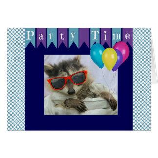 Carte d'anniversaire drôle de raton laveur de