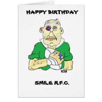 Très Cartes de vœux Anniversaire Rugby personnalisées | Zazzle.fr WJ69