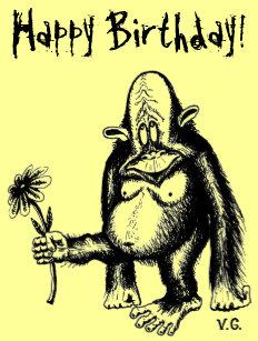 Humour CARTE D/'ANNIVERSAIRE glitzersteine Carte de voeux singes 17x12cm