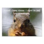Carte d'anniversaire drôle d'écureuil