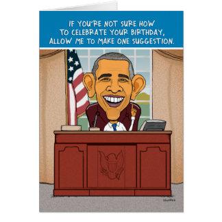 Carte d'anniversaire drôle d'Obama