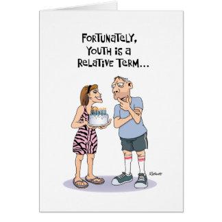 Carte d'anniversaire drôle pour le type âgé par