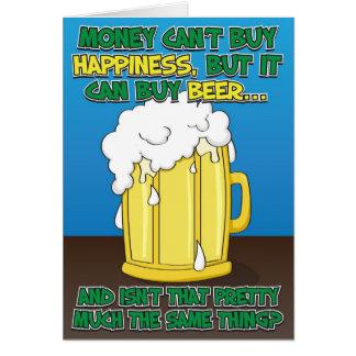Carte d'anniversaire drôle pour l'homme - bière !
