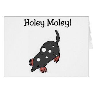 Carte d'anniversaire drôle trouée de Moley (gros