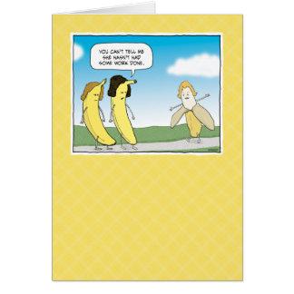 Carte d'anniversaire drôle : Vont les bananes !
