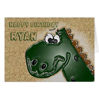 carte d'anniversaire du dinosaure 3D
