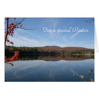 Carte d'anniversaire du pasteur de vue de lac