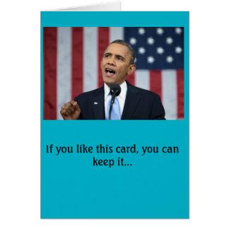 Carte d'anniversaire du Président Obama